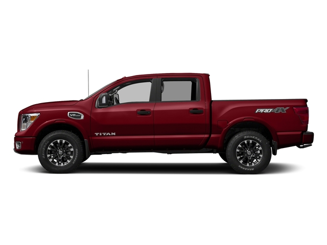 Cayenne Red 2017 Nissan Titan Pictures Titan Crew Cab PRO-4X 4WD photos side view
