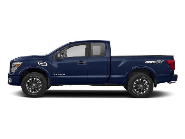 Deep Blue Pearl 2017 Nissan Titan Pictures Titan King Cab PRO-4X 4WD photos side view