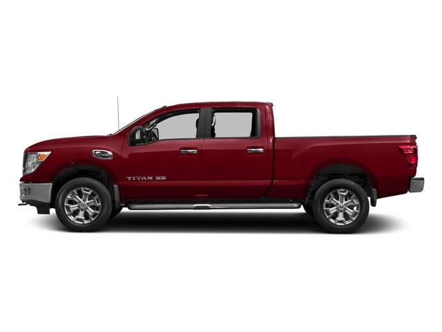 Cayenne Red 2017 Nissan Titan XD Pictures Titan XD Crew Cab SV 2WD photos side view