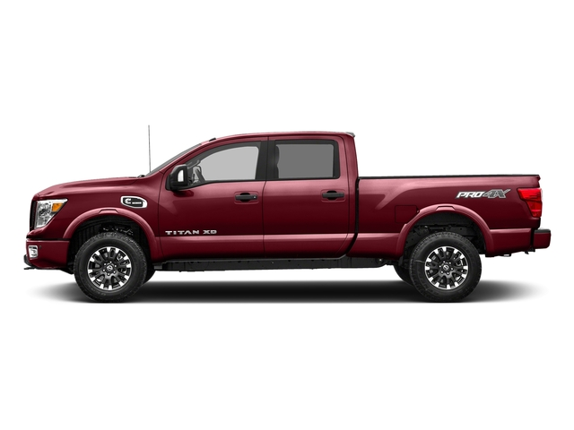 Cayenne Red 2017 Nissan Titan XD Pictures Titan XD Crew Cab PRO-4X 4WD photos side view
