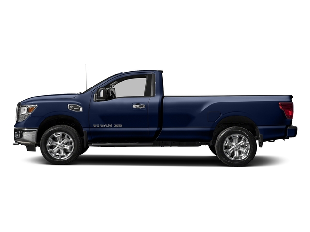 Deep Blue Pearl 2017 Nissan Titan XD Pictures Titan XD Regular Cab SV 2WD photos side view
