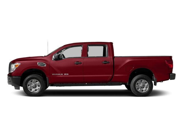 Cayenne Red 2017 Nissan Titan XD Pictures Titan XD Crew Cab S 4WD photos side view