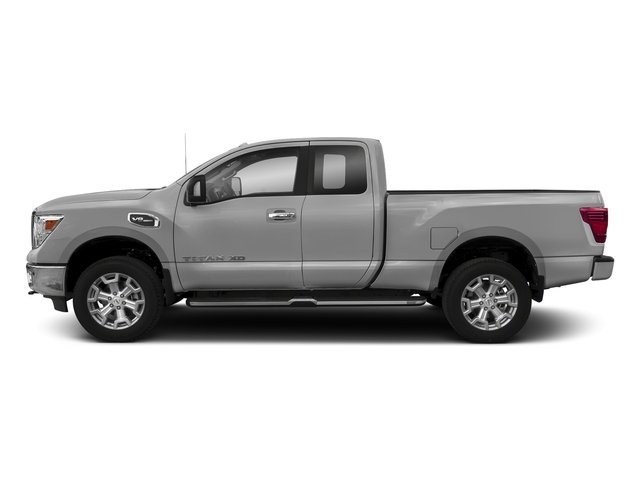 Brilliant Silver 2017 Nissan Titan XD Pictures Titan XD Extended Cab S 4WD photos side view