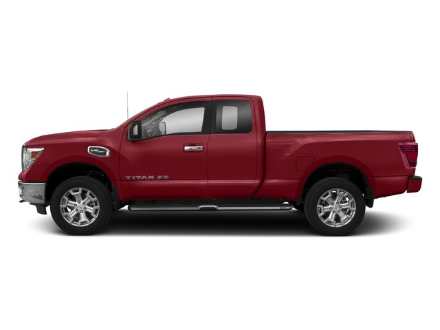 Cayenne Red 2017 Nissan Titan XD Pictures Titan XD Extended Cab S 4WD photos side view