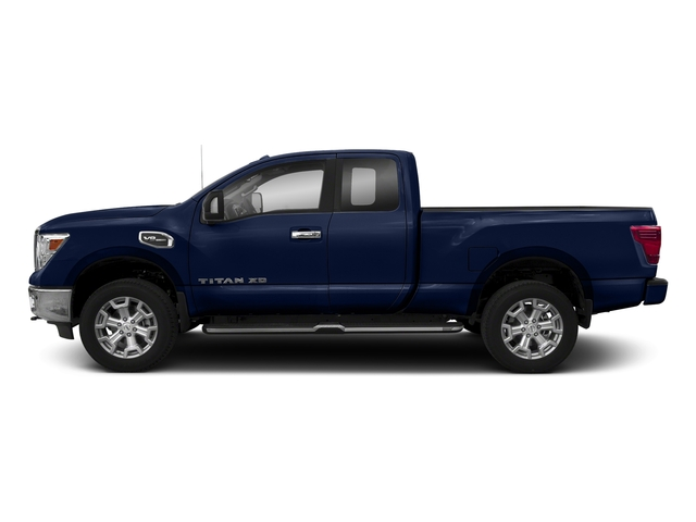 Deep Blue Pearl 2017 Nissan Titan XD Pictures Titan XD Extended Cab PRO-4X 4WD photos side view