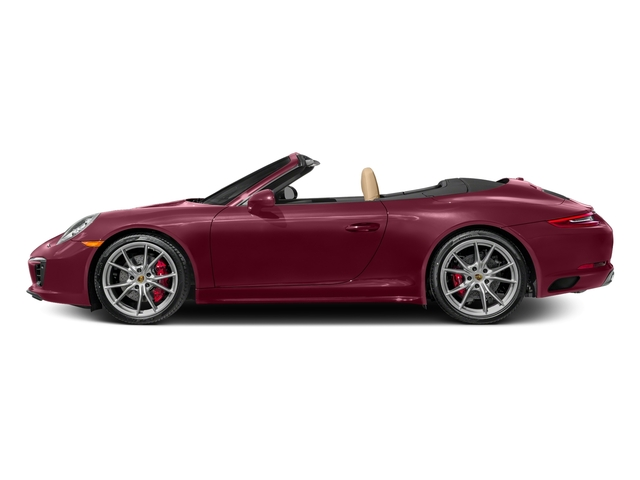 Carmine Red 2017 Porsche 911 Pictures 911 Carrera 4S Cabriolet photos side view