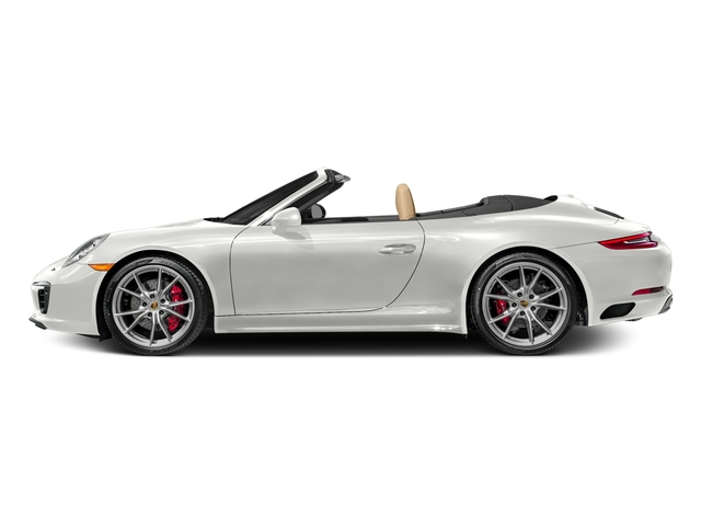 White 2017 Porsche 911 Pictures 911 Carrera 4S Cabriolet photos side view