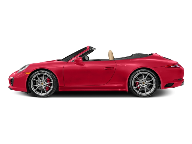 Guards Red 2017 Porsche 911 Pictures 911 Carrera 4S Cabriolet photos side view