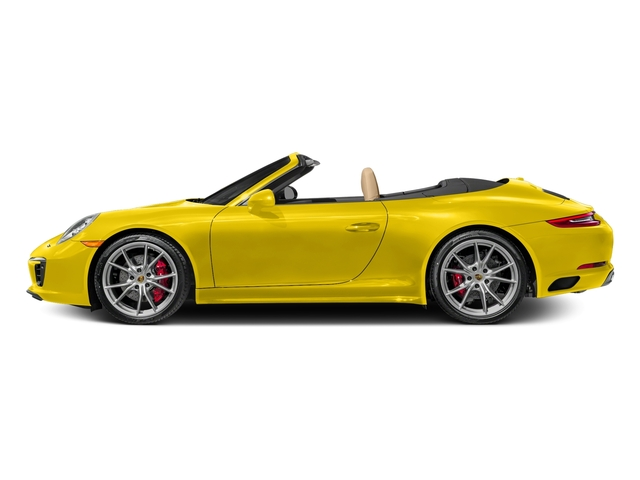 Racing Yellow 2017 Porsche 911 Pictures 911 Carrera 4S Cabriolet photos side view