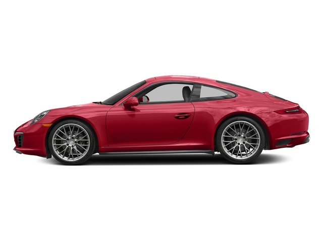 Carmine Red 2017 Porsche 911 Pictures 911 Carrera 4 Coupe photos side view