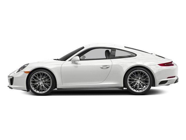 Carrara White Metallic 2017 Porsche 911 Pictures 911 Carrera 4 Coupe photos side view