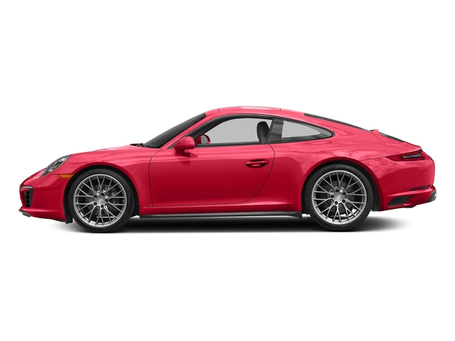 Guards Red 2017 Porsche 911 Pictures 911 Carrera 4 Coupe photos side view