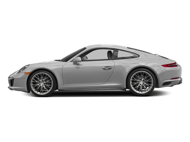 Rhodium Silver Metallic 2017 Porsche 911 Pictures 911 Carrera 4 Coupe photos side view