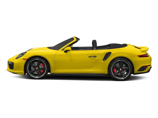 Racing Yellow 2017 Porsche 911 Pictures 911 Turbo Cabriolet photos side view