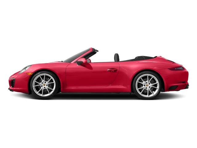 Guards Red 2017 Porsche 911 Pictures 911 Carrera Cabriolet photos side view