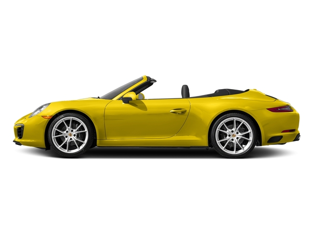 Racing Yellow 2017 Porsche 911 Pictures 911 Carrera Cabriolet photos side view