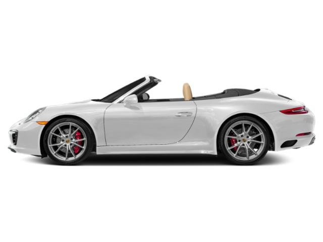 Carrara White Metallic 2017 Porsche 911 Pictures 911 Carrera 4S Cabriolet photos side view