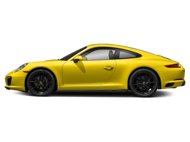 Racing Yellow 2017 Porsche 911 Pictures 911 Coupe 2D H6 Turbo photos side view