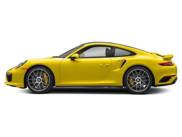 Racing Yellow 2017 Porsche 911 Pictures 911 Coupe 2D Turbo S AWD H6 photos side view