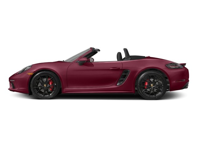 Carmine Red 2017 Porsche 718 Boxster Pictures 718 Boxster Roadster 2D S H4 Turbo photos side view
