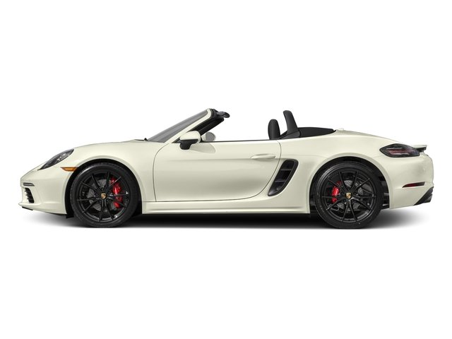 Carrara White Metallic 2017 Porsche 718 Boxster Pictures 718 Boxster Roadster 2D S H4 Turbo photos side view