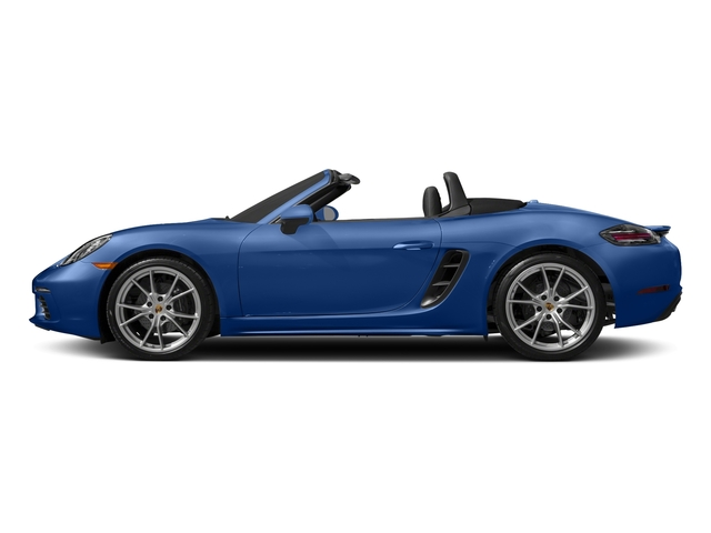 Sapphire Blue Metallic 2017 Porsche 718 Boxster Pictures 718 Boxster Roadster photos side view