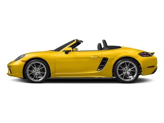 Racing Yellow 2017 Porsche 718 Boxster Pictures 718 Boxster Roadster 2D H4 Turbo photos side view