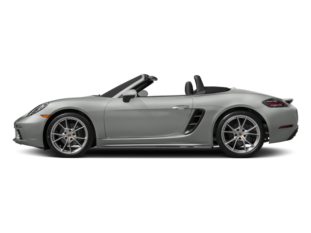Rhodium Silver Metallic 2017 Porsche 718 Boxster Pictures 718 Boxster Roadster 2D H4 Turbo photos side view