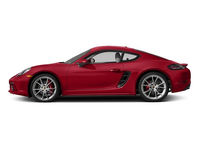 Carmine Red 2017 Porsche 718 Cayman Pictures 718 Cayman S Coupe photos side view