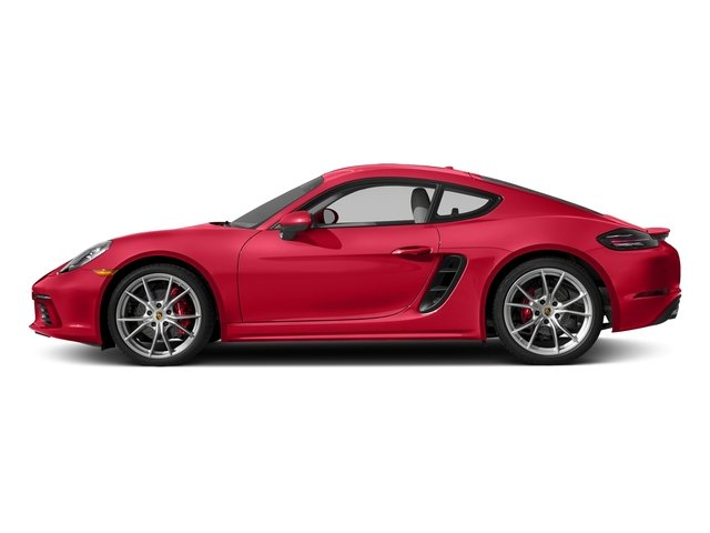 Guards Red 2017 Porsche 718 Cayman Pictures 718 Cayman S Coupe photos side view
