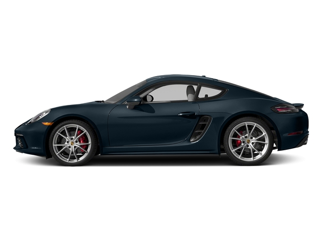 Night Blue Metallic 2017 Porsche 718 Cayman Pictures 718 Cayman Coupe 2D S H4 Turbo photos side view