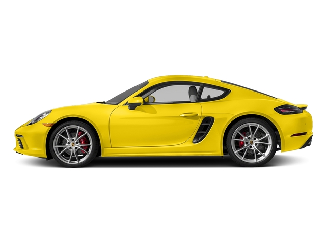 Racing Yellow 2017 Porsche 718 Cayman Pictures 718 Cayman Coupe 2D S H4 Turbo photos side view