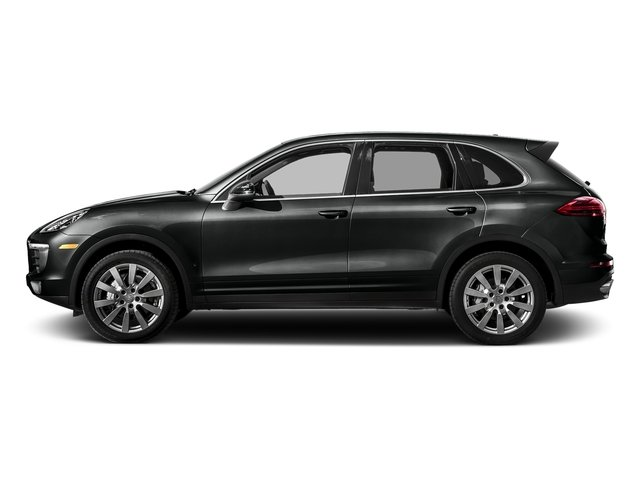 Jet Black Metallic 2017 Porsche Cayenne Pictures Cayenne S AWD photos side view