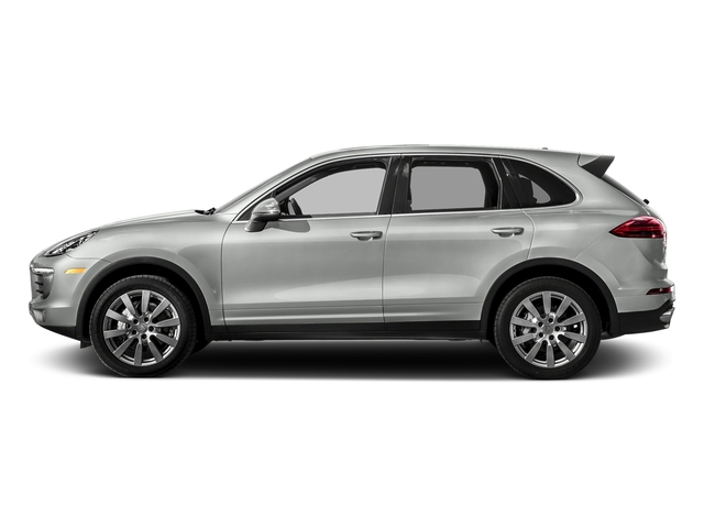 Rhodium Silver Metallic 2017 Porsche Cayenne Pictures Cayenne S AWD photos side view