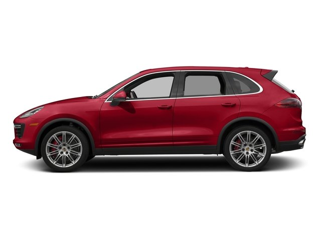 Carmine Red 2017 Porsche Cayenne Pictures Cayenne Turbo AWD photos side view