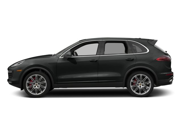 Jet Black Metallic 2017 Porsche Cayenne Pictures Cayenne Turbo AWD photos side view