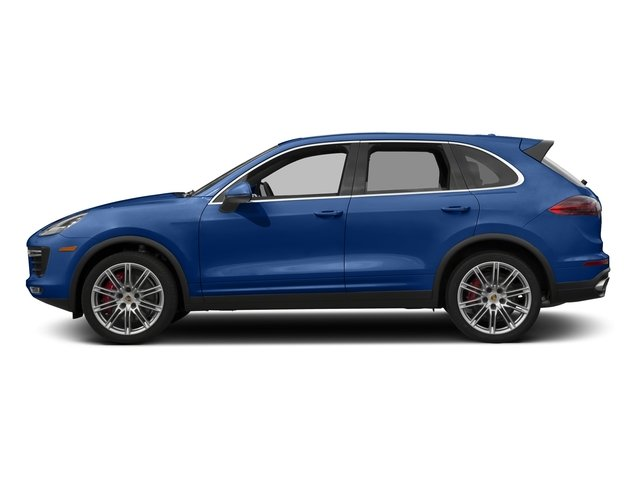 Sapphire Blue Metallic 2017 Porsche Cayenne Pictures Cayenne Turbo AWD photos side view