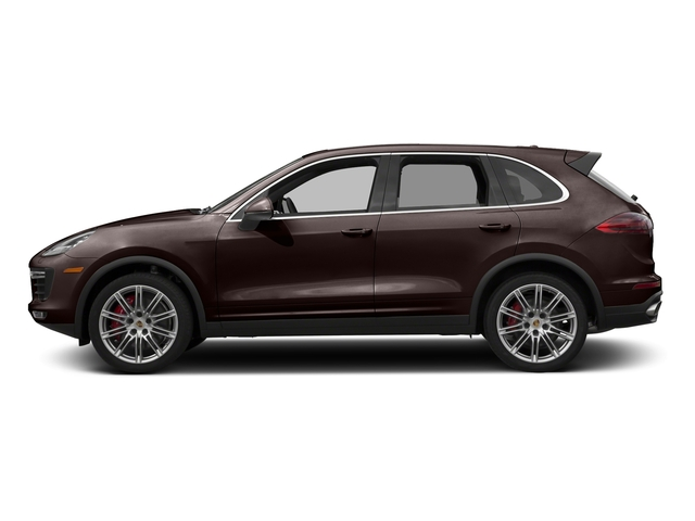 Mahogany Metallic 2017 Porsche Cayenne Pictures Cayenne Utility 4D AWD V8 Turbo photos side view