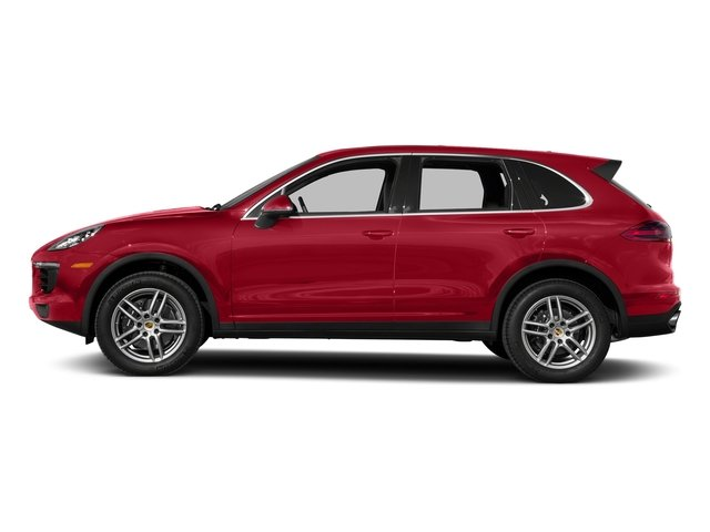 Carmine Red 2017 Porsche Cayenne Pictures Cayenne Utility 4D AWD V6 photos side view