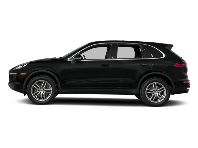 Jet Black Metallic 2017 Porsche Cayenne Pictures Cayenne AWD photos side view