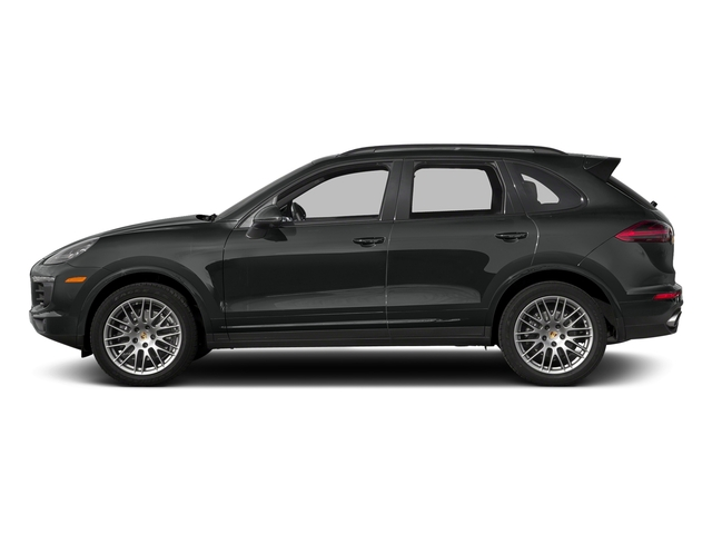 Jet Black Metallic 2017 Porsche Cayenne Pictures Cayenne Utility 4D Platinum AWD V6 photos side view