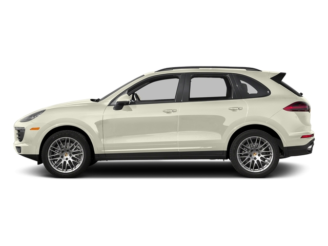 Carrara White Metallic 2017 Porsche Cayenne Pictures Cayenne Utility 4D Platinum AWD V6 photos side view