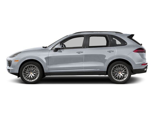 Rhodium Silver Metallic 2017 Porsche Cayenne Pictures Cayenne Utility 4D Platinum AWD V6 photos side view