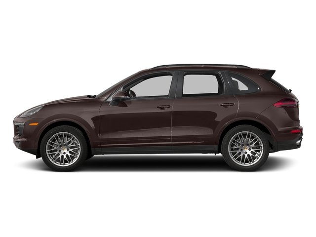 Mahogany Metallic 2017 Porsche Cayenne Pictures Cayenne Utility 4D Platinum AWD V6 photos side view
