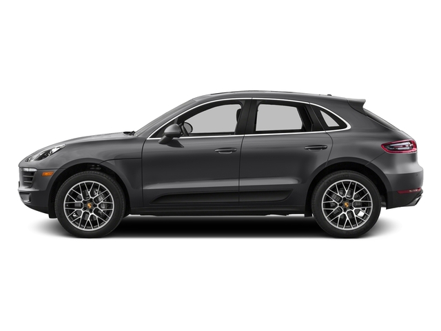 Volcano Grey Metallic 2017 Porsche Macan Pictures Macan Utility 4D Performance AWD V6 Turbo photos side view