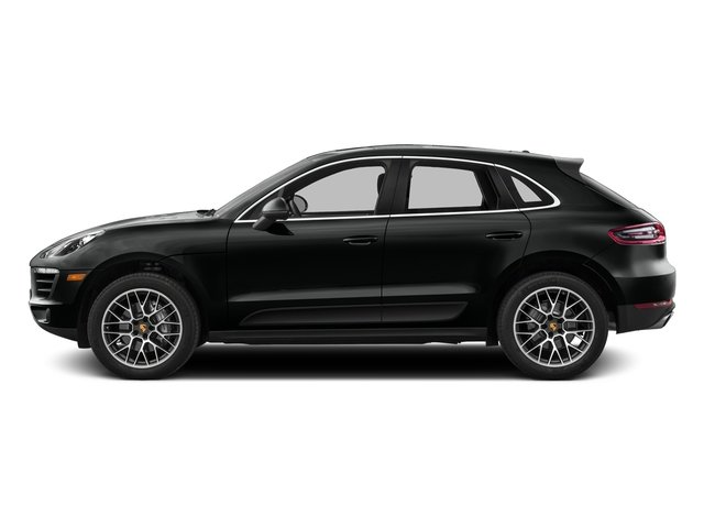Jet Black Metallic 2017 Porsche Macan Pictures Macan Utility 4D Performance AWD V6 Turbo photos side view