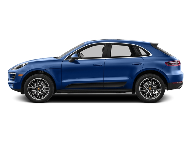 Sapphire Blue Metallic 2017 Porsche Macan Pictures Macan Utility 4D Performance AWD V6 Turbo photos side view
