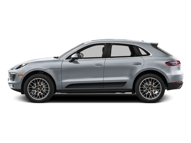 Rhodium Silver Metallic 2017 Porsche Macan Pictures Macan Utility 4D Performance AWD V6 Turbo photos side view