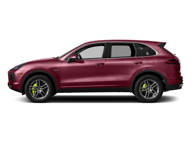 Carmine Red 2017 Porsche Cayenne Pictures Cayenne S E-Hybrid AWD photos side view