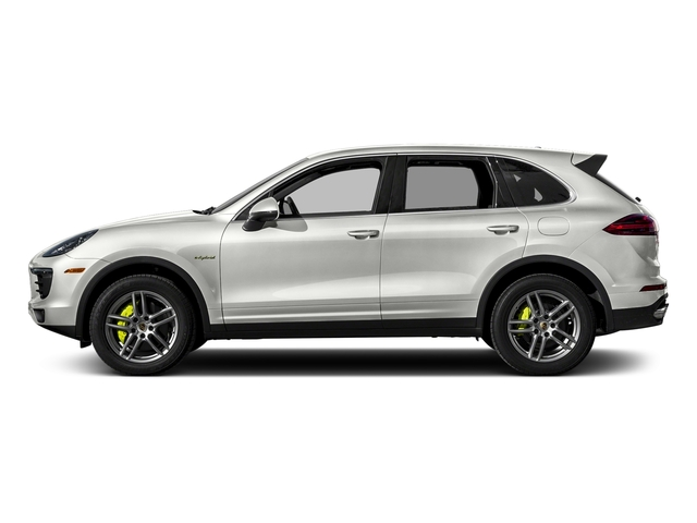 White 2017 Porsche Cayenne Pictures Cayenne S E-Hybrid Platinum Edition AWD photos side view